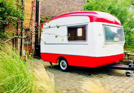 Vintage, caravan, photo booth, Viking fibreline