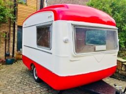 Caravan, vintage, photo booth, Viking fibreline