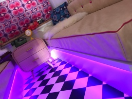 Caravan, photo booth, interior, restoration